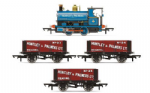 Hornby R3686 Huntley & Palmers Peckett W4 Works Train Pack